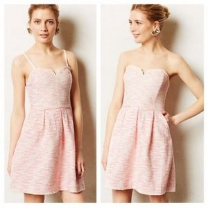 Moulinette Soeurs Pink White Tweed Dress 0